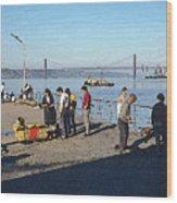 Lisbon Pier 4 Wood Print