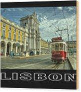 Lisbon  Wood Print