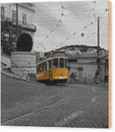 Lisbon Trolley 10c Wood Print