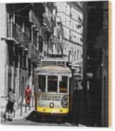 Lisbon Trolley 16c Wood Print