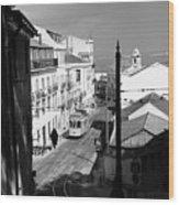 Lisbon Trolley 17b Wood Print