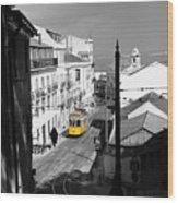 Lisbon Trolley 17c Wood Print