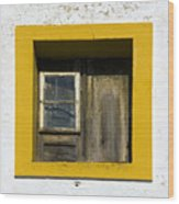 Lisbon Window Wood Print