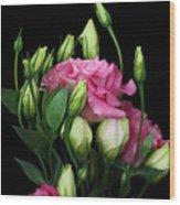 Lisianthus Flowers Wood Print