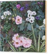 Lisianthus Medley Wood Print