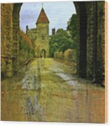 Lismore Castle Gate Wood Print