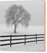 Listen The Snow Is Falling All Around Wood Print