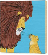 Listen To The Lion Wood Print
