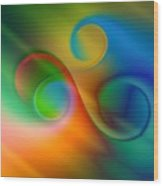 Listen To The Sound Of Colors -2- Wood Print by Issabild -