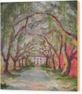 Litchfield Carriage House Wood Print by Cecelia Campbell