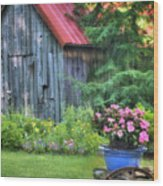 Litchfield Hills Summer Scene Wood Print