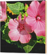 Lite Floral Wood Print