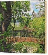 Lithia Park Bridge Wood Print
