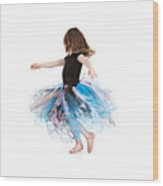 Little Ballerina Wood Print by Cindy Singleton