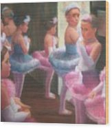 Little Ballerinas Backstage At The Recital Wood Print