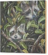 Little Bandits Wood Print
