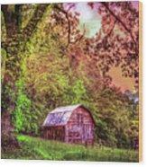 Little Barn In The Smokies Wood Print