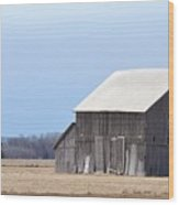 Little Barn On The Prairie  Wood Print