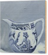 Little Blue Jug Wood Print