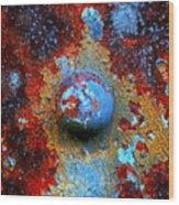 Little Blue Planet Wood Print