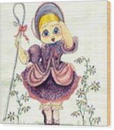 Little Bo Peep Wood Print