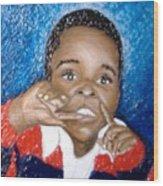 Little Boy Blue  Wood Print