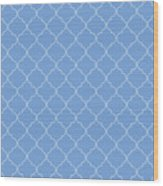 Little Boy Blue Quatrefoil Wood Print