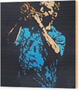 Little Boy Blues Wood Print