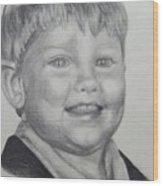 Little Boy Portrait Wood Print