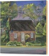 Little Brick House  Wood Print