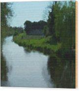 Little Brosna River Riverstown Ireland Wood Print