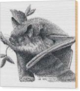 Little Brown Bat Wood Print