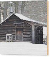 Little Cabin Wood Print
