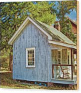 Little Cabin In The Country Pine Barrens Of New Jersey Wood Print