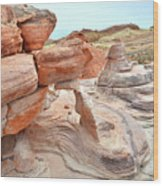 Little Castle Above Wash 3 In Valley Of Fire Wood Print