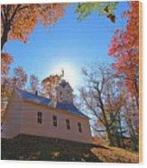 Little Cataloochee Church Wood Print