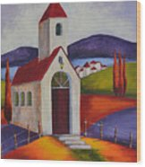 Little Chapel 1 Wood Print