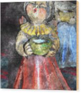 Little Christmas Angel-abstract Wood Print