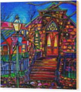 Little Church At La Villita II Wood Print
