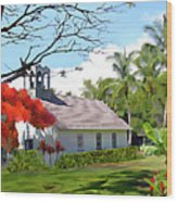 Little Church At Puako Big Island Wood Print