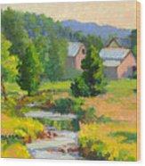 Little Creek Farm Wood Print