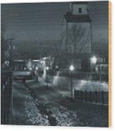 Little Creek Walkway To Old Mill Wood Print