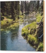 Little Deschutes Photograph Wood Print