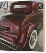 Little Deuce Coupe Aft View Wood Print