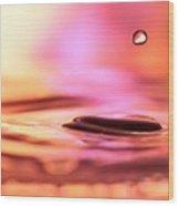 Little Drop Of Water Wood Print