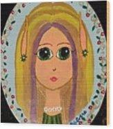 Little Elf Girl Wood Print