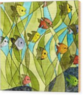 Little Fish Big Pond Wood Print
