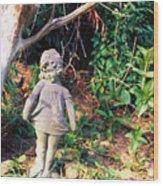 Little Flowergirl Wood Print