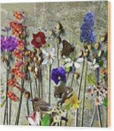 Little Garden Wood Print