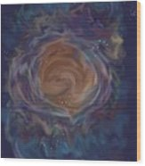 Little Ghost Nebula Wood Print